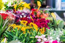 Closeup Of Florist Flower Shop...