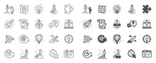 Startup Line Icons. Launch Pro...