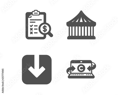 Set of Load document, Carousels and Accounting report icons