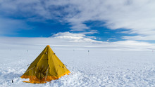 Camping On The Ross Ice Shelf, Antarctica