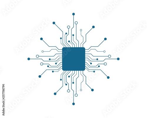 circuit technology vector Fototapet