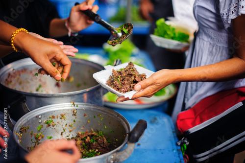 Poster Cuisine Society of donations and food sharing for the poor: ideas about helping
