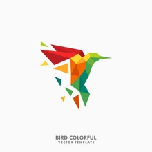 Hummingbird Polygon Color Full...