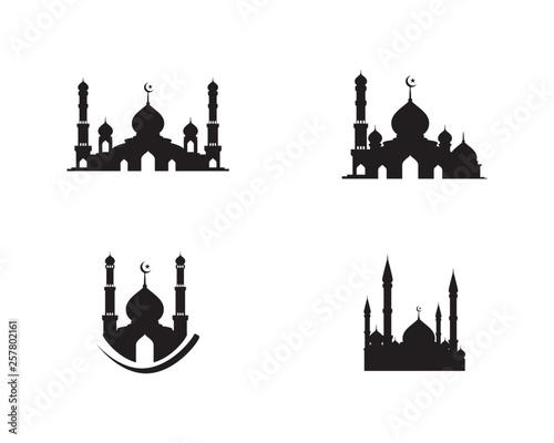 Cuadros en Lienzo Mosque Moslem icon vector Illustration