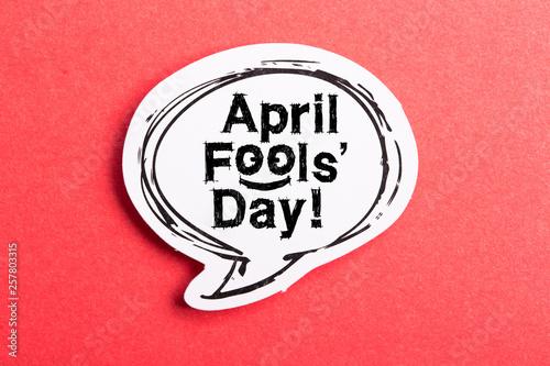 April Fools' Day Speech Bubble Canvas Print