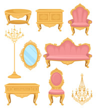 Princess Furniture. Collection Decor Elements For Living Room.