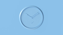 Pale Blue Office Wall Clock 3d...