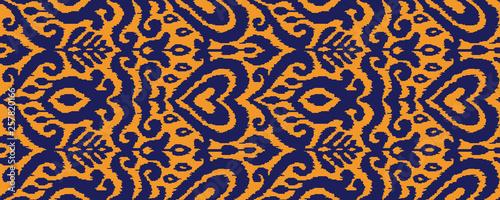 Foto auf AluDibond Boho-Stil Ikat Ornament Ethnic Vector Seamless Pattern