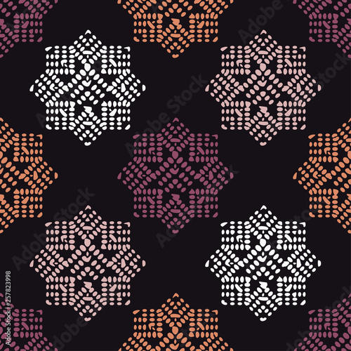 Fototapeta Ethnic Boho Seamless Pattern Patchwork Texture Weaving Traditional Ornament Tribal Pattern Folk Motif Can Be Used For Wallpaper