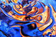 canvas print picture - Abstract colorful oil wave on water background