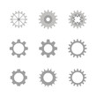 gears vector icons set
