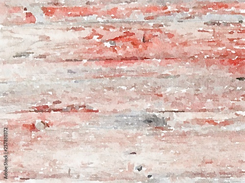 Foto op Canvas Stenen Surface on the plank and Texture wooden watercolour