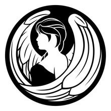 Zodiac Signs Circular Virgo Angel Horoscope Astrology Symbol