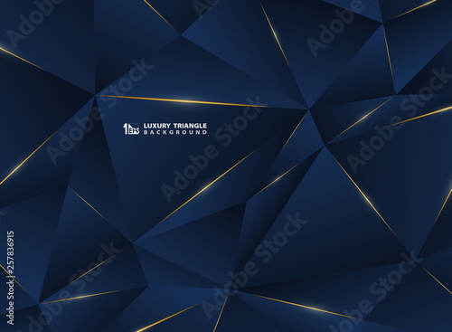 Foto  Abstract luxury golden line with classic blue template premium background