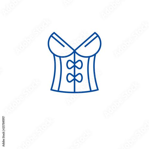 Obraz na płótnie Vintage corset line concept icon