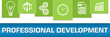 Professional Development Business Symbols Blue Green On Top Horizontal
