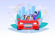 Carpool Service Illustration. ...