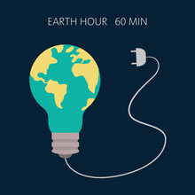 Earth Hour, Our Planet, Ecology Concept.