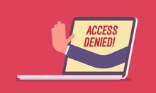 Access Denied Sign On Laptop S...