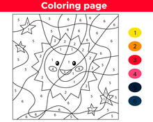 Educational Number Coloring Pa...