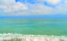 Seascape, Paradise Beach And Natural Landscape View From Sirolo Conero, Marche Italy