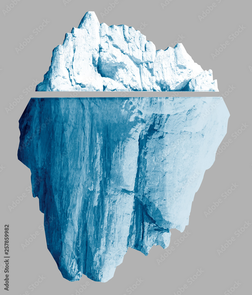 Fototapeta Iceberg isolated with clipping paths included 3d illustration