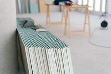 White Chip Board Stacked Insid...