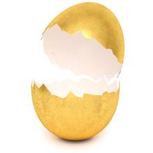 Golden Egg With Broken Eggshell