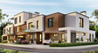 Modern architecture apartments residential townhouses