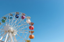 Colourful Ferris Wheel In The ...