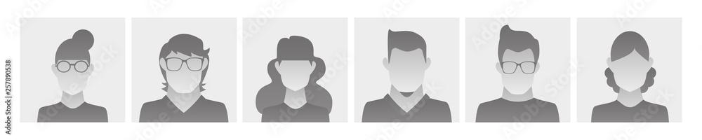 Fototapeta basic avatar profile pictures for social media
