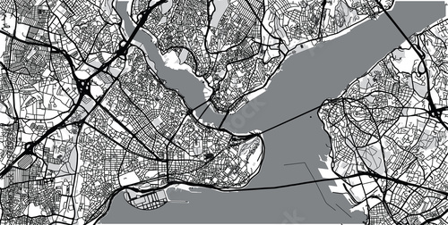Photo Urban vector city map of Istanbul, Turkey