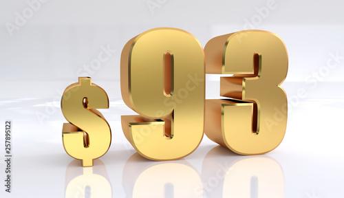 Fototapeta  93 dollar price symbol