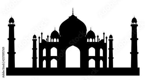 Fotografie, Obraz  Silhouette of Taj Mahal