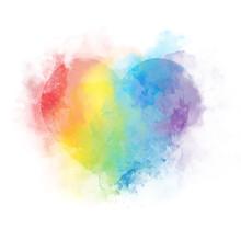 Gentle Watercolor Art Rainbow ...