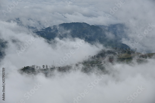 Photo Stands Lake The mountain with cloud and mist in rainy season at Phu tub berk , Petchaboon , Thailand