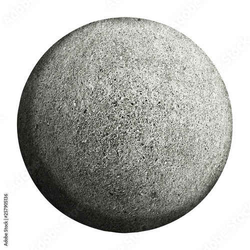gray planet isolated and add clipping path. Wall mural