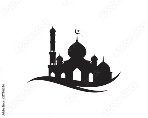 Canvas Print Mosque Moslem icon vector Illustration