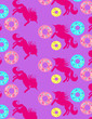 Leinwandbild Motiv Design of donuts and unicorns