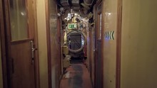 Interior Of An Old Submarine
