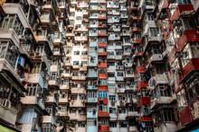 Hong Kong, Quarry Bay, Apartment Blocks