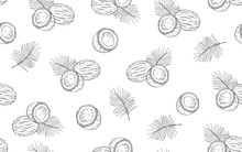 Seamless Pattern With Coconuts...