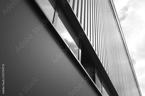 Türaufkleber Darknightsky Detail of a factory building with window