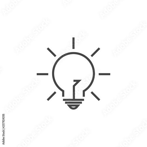 Photo  Lightbulb lamp graphic design template vector illustration