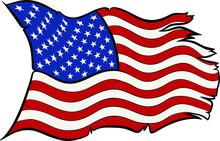 Hand Drawn Vector Of USA Flag ...