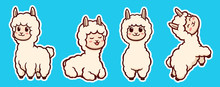 Vector Illustration Of Alpacas...