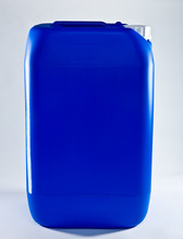 Blue Drum For Liquid Products With A White Cap