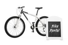 Outdoor Blackboard Bike Rental...