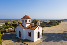 View Of Church Against Clear Sky In Rhodes, Greece
