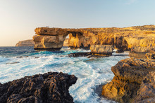 View Pf Azure Window On Sea At...